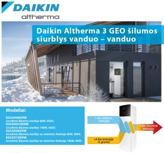 Daikin Altherma 3 GEO gruntiniai šilumos siurbliai vanduo/vanduo